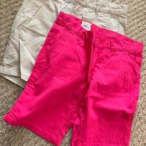 2 Pairs SO Bermuda Shorts 8 Girls NWT New